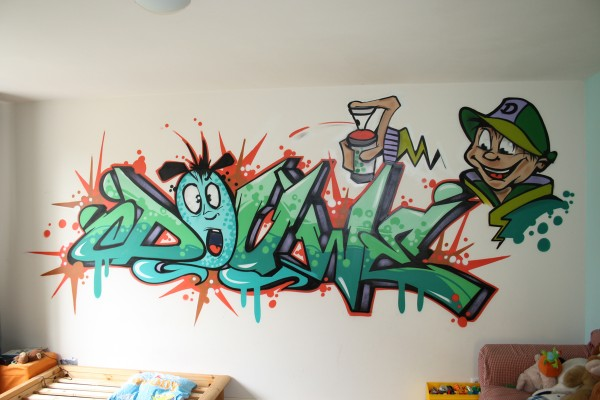 Graffiti kinderkamer (1)