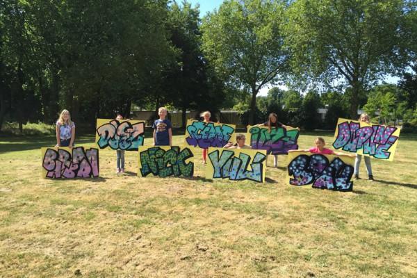 Creatieve workshop tijdens kinderfeestje