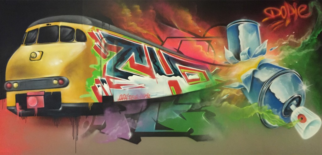 Muurschilderingen kings of colors graffiti workshops projecten - Ontwerp muurschildering ...